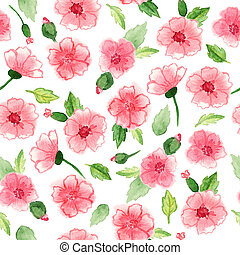 Seamless floral pattern - Beautiful seamless floral pattern...