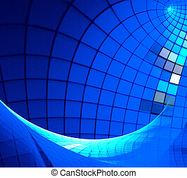 fractal illustration of a technical background with squares...