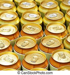 Cerveja, latas,
