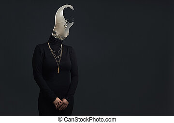 Adult headless woman as Symbol for Burn Out Syndrome -...