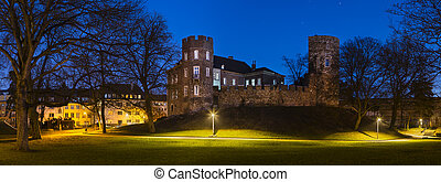 Frankenberg Castle At Night Panorama, Aachen - Panorama of...