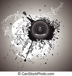 Music Poster with Audio Speaker
