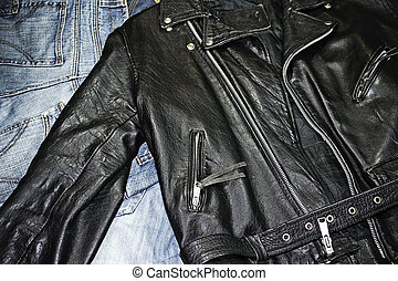 studded jacket - classic style leather studded jacket over...