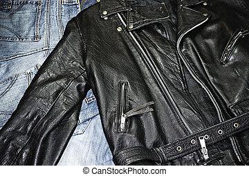 studded jacket - classic style leather studded jacket over...