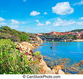 Porto Cervo on a cloudy day, Italy