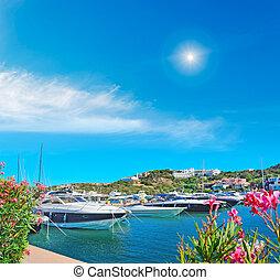 luxury yachts in Porto Cervo, Sardinia