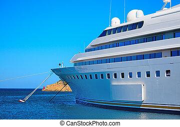 luxury yacht in Porto Cervo, Sardinia