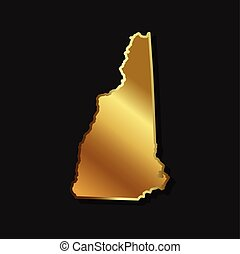 New Hampshire Golden map graphic