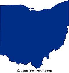 Ohio flat map logo