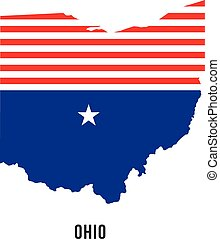 Ohio flag map logo