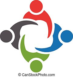 Man People logo Icon of four persons