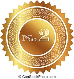 Number two gold seal