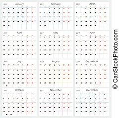 Calendar 2017 - Vector calendar 2017