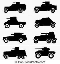 Armored cars - Set of Armored cars