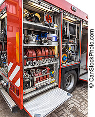 Inventory of a Fire Engine - Hoses, Valves and other...