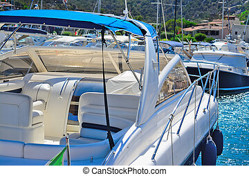 yachts in Porto Cervo harbor, Italy