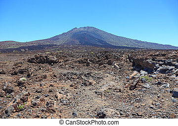 Panoramic view of El Teide volcanic desert, Tenerife, Spain