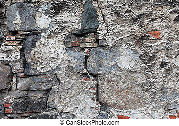Very old damaged wall with cracks Good as textured...