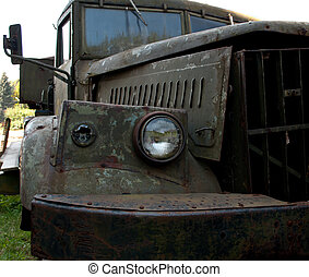 old truck - a old truck close up