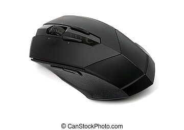 High quality professional laser mouse for gamers or graphics isolated on white background.