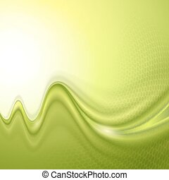 Green abstract wave