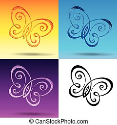 Butterfly Symbol - Vector Illustration of a symbol...