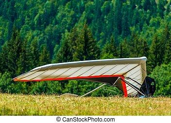Hang Gliding Air Sport. Non-Motorized Foot-Launch Aircraft....