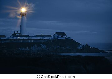 Pacific Coast Lighthouse - Pigeon Point Lighthouse, CA, USA....