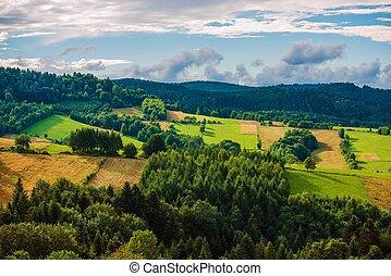 Poland Bieszczady Landscape. South-East Poland Bieszczady...