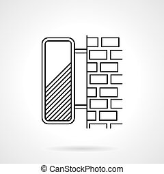 Line vector icon for lightbox - Flat line style vector icon...