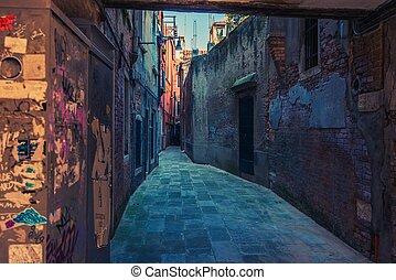 Venice Italy Street - Venice Italy Street. Venetian...