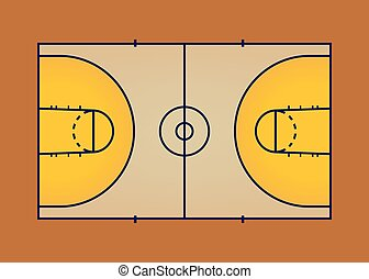 Basketball court,aerial view vector illustration