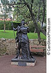 Hector and Andromache sculpture, Monaco - MONTE CARLO,...