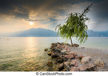 Sunset at Lake Garda (Italy)