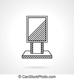 Citylight line vector icon - Black flat line design vector...