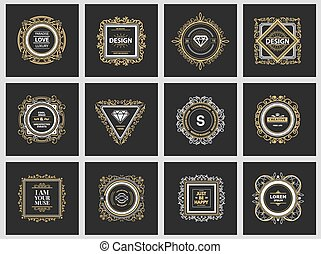 Monogram luxury logo template - Monogram luxury logo...