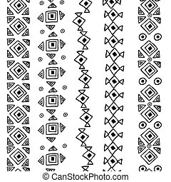 Vector seamless black and white pattern