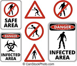 Zombie Restricted Apocalypse Signs, Symbols and Billboards...