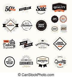 Vintage premium quality badges and stickers