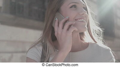 Young Woman Speaking On Phone