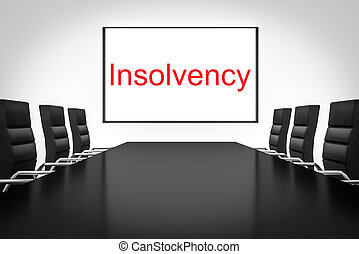 conference room with whiteboard insolvency - conference...