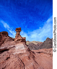 Dry mountains of Eilat - Outcrops of pink sandstone unusual...