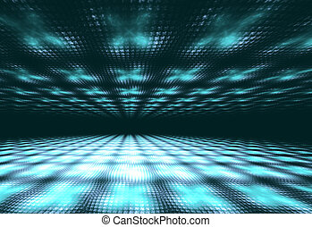 Illustration abstract technology background with squares and...