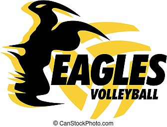 eagles volleyball design with talons and ball