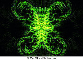 Illustration of an abstract fractal background with vintage...