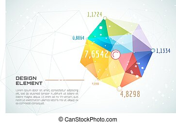 Abstract background vector wallpaper. Triangle, color lines,...