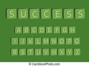 3D alphabet with word success