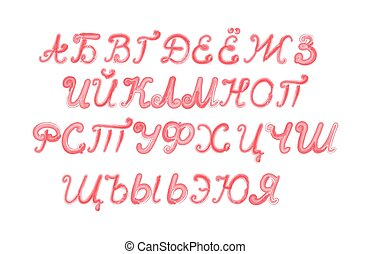 Russian alphabet isolated on white background - Russian...