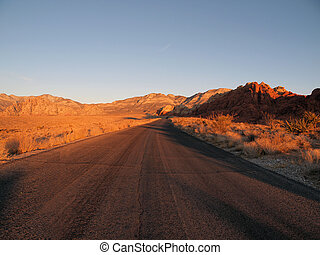Red Rock Sunrise Nevada - Warm sunrise light on Red Rock...