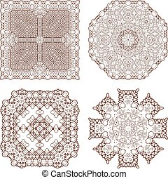 Basic RGBvector elements - Henna tattoo doodle vector...